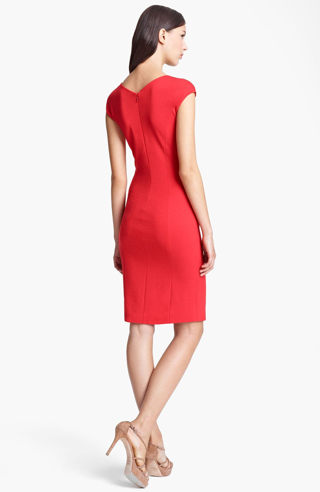 Alternate Image 2  - Armani Collezioni Side Contrast Jersey Dress