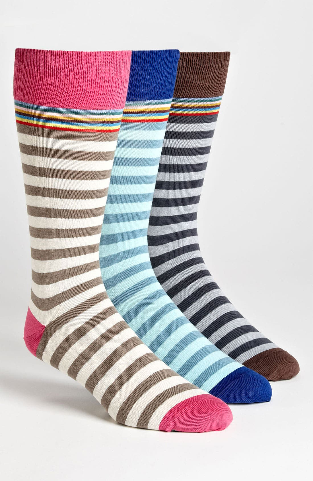 Alternate Image 1 Selected - Paul Smith Accessories Print Socks (3-Pack)