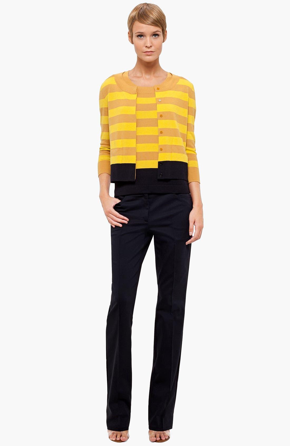 Alternate Image 4  - Akris punto Stripe Wool Sweater