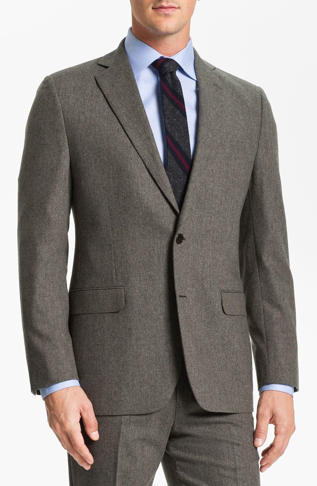 Main Image - Brooks Brothers Tweed Wool Suit