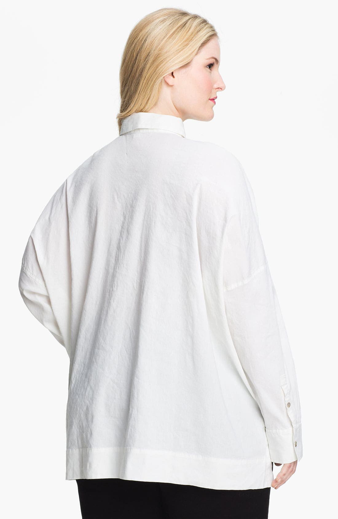 Alternate Image 2  - Eileen Fisher Button Up Shirt (Plus Size)