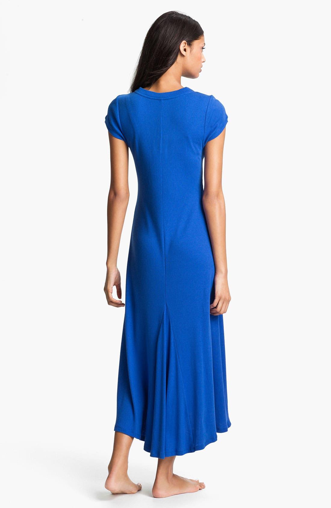 Alternate Image 2  - Lauren Ralph Lauren Cap Sleeve Maxi Gown