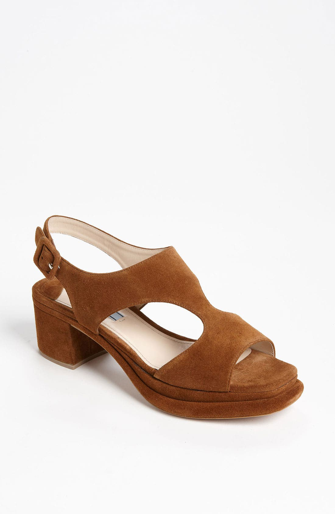 Alternate Image 1 Selected - Prada Platform Block Heel Sandal