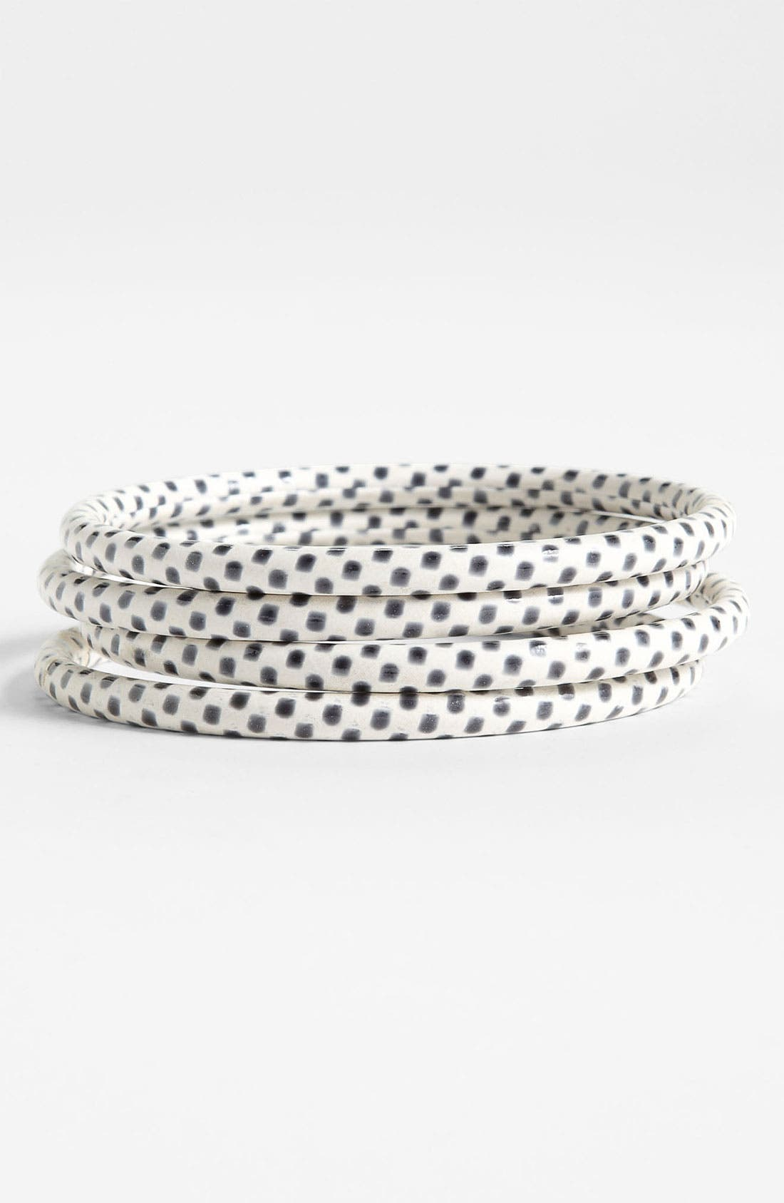 Alternate Image 1 Selected - Chamak by Priya Kakkar Polka Dot Bangles (Set of 4)