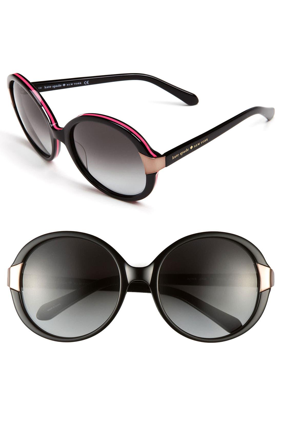 Alternate Image 1 Selected - kate spade new york 'alyx' 56mm oversized sunglasses