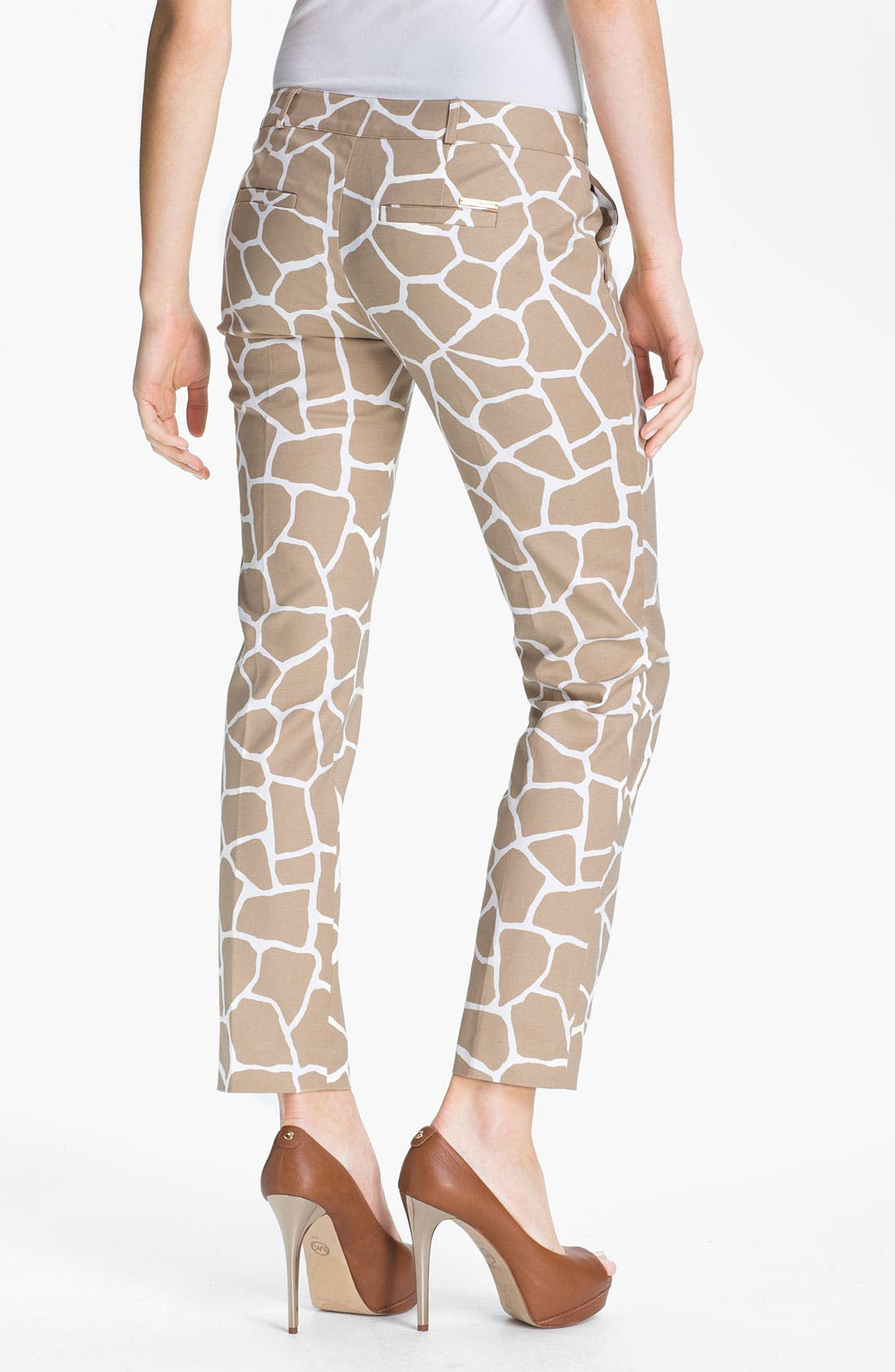 Alternate Image 2  - MICHAEL Michael Kors Giraffe Print Ankle Pants