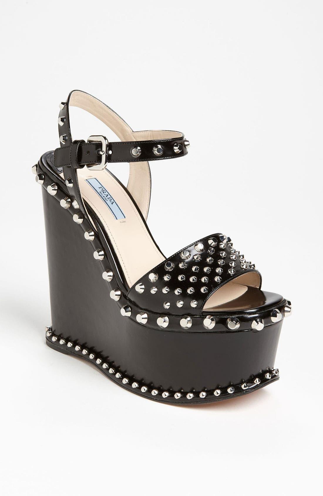 Main Image - Prada Studded Wedge Sandal