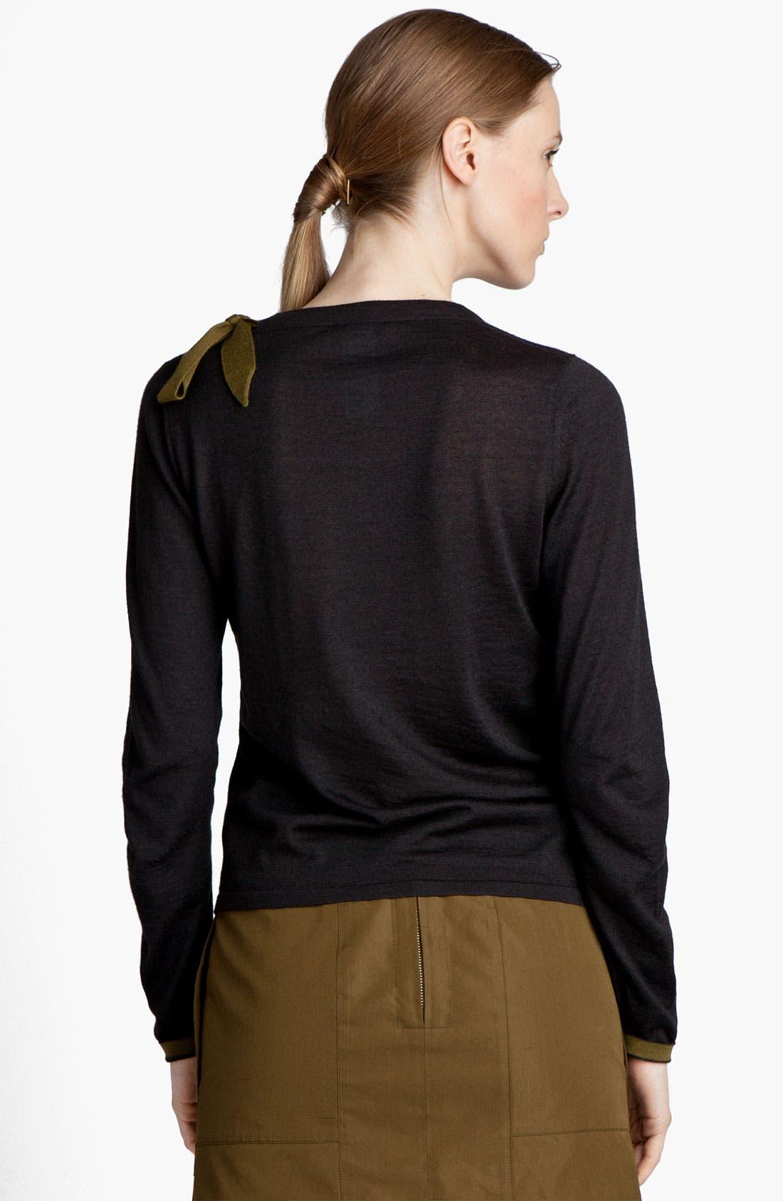 Alternate Image 3  - Jil Sander Bow Detail Cashmere & Silk Sweater