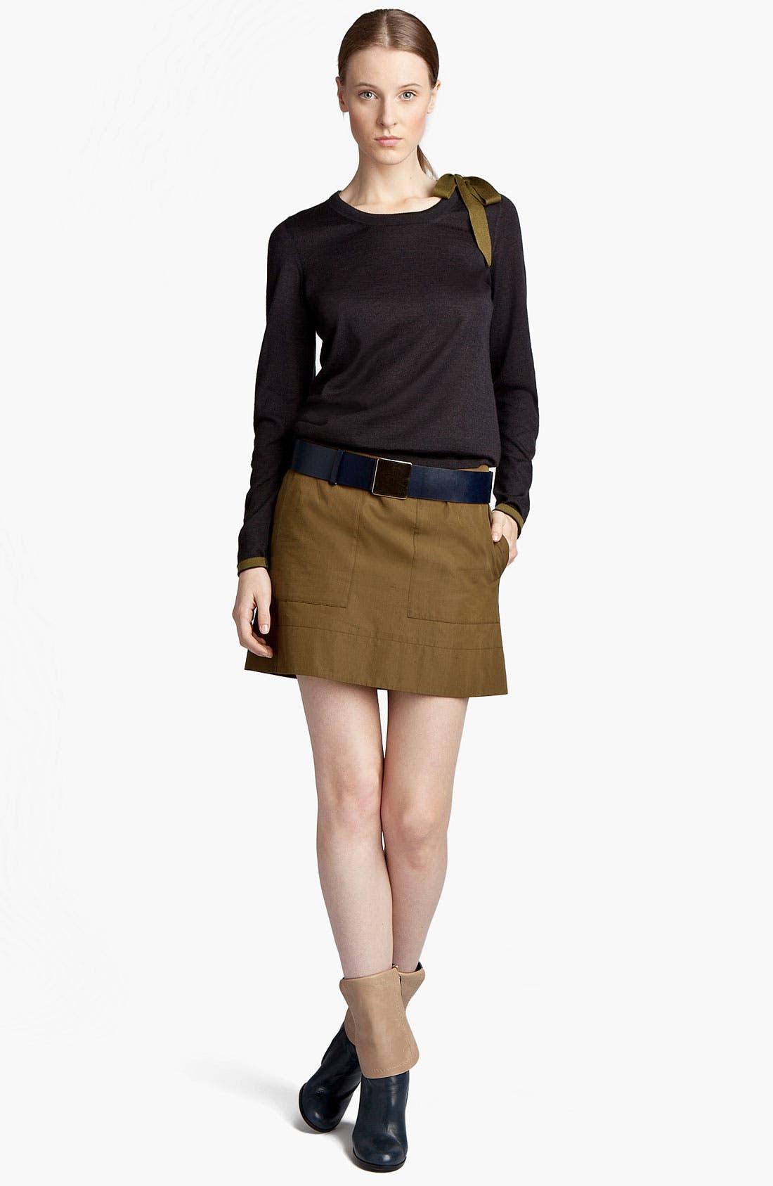 Alternate Image 1 Selected - Jil Sander Bow Detail Cashmere & Silk Sweater