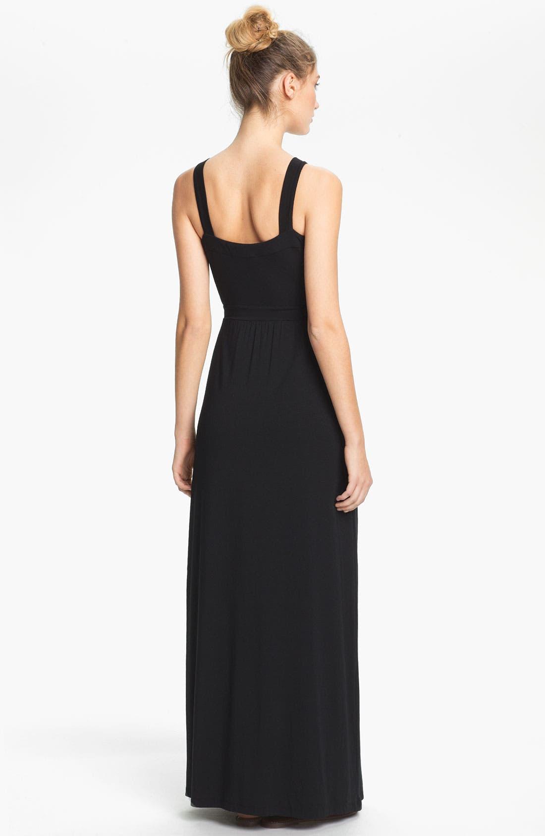 Alternate Image 2  - Tart 'Camille' Sleeveless Jersey Wrap Maxi Dress