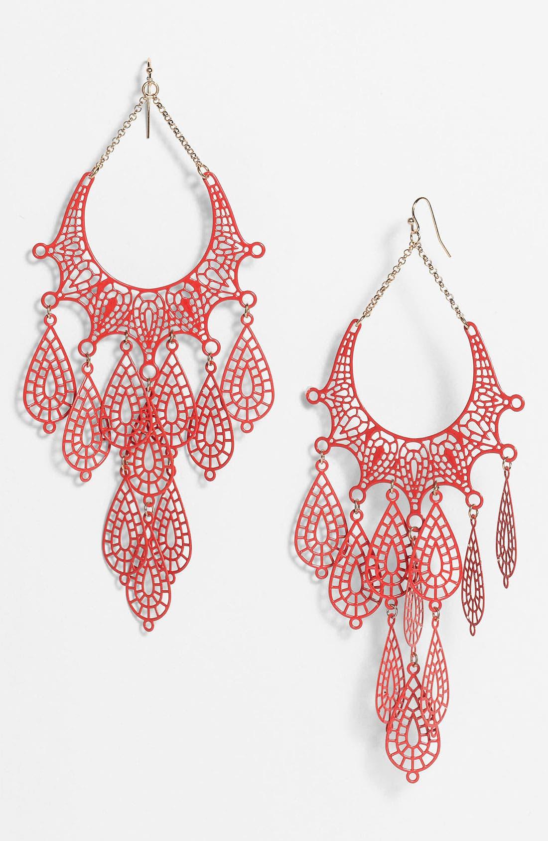 Alternate Image 1 Selected - Cara Filigree Chandelier Earrings