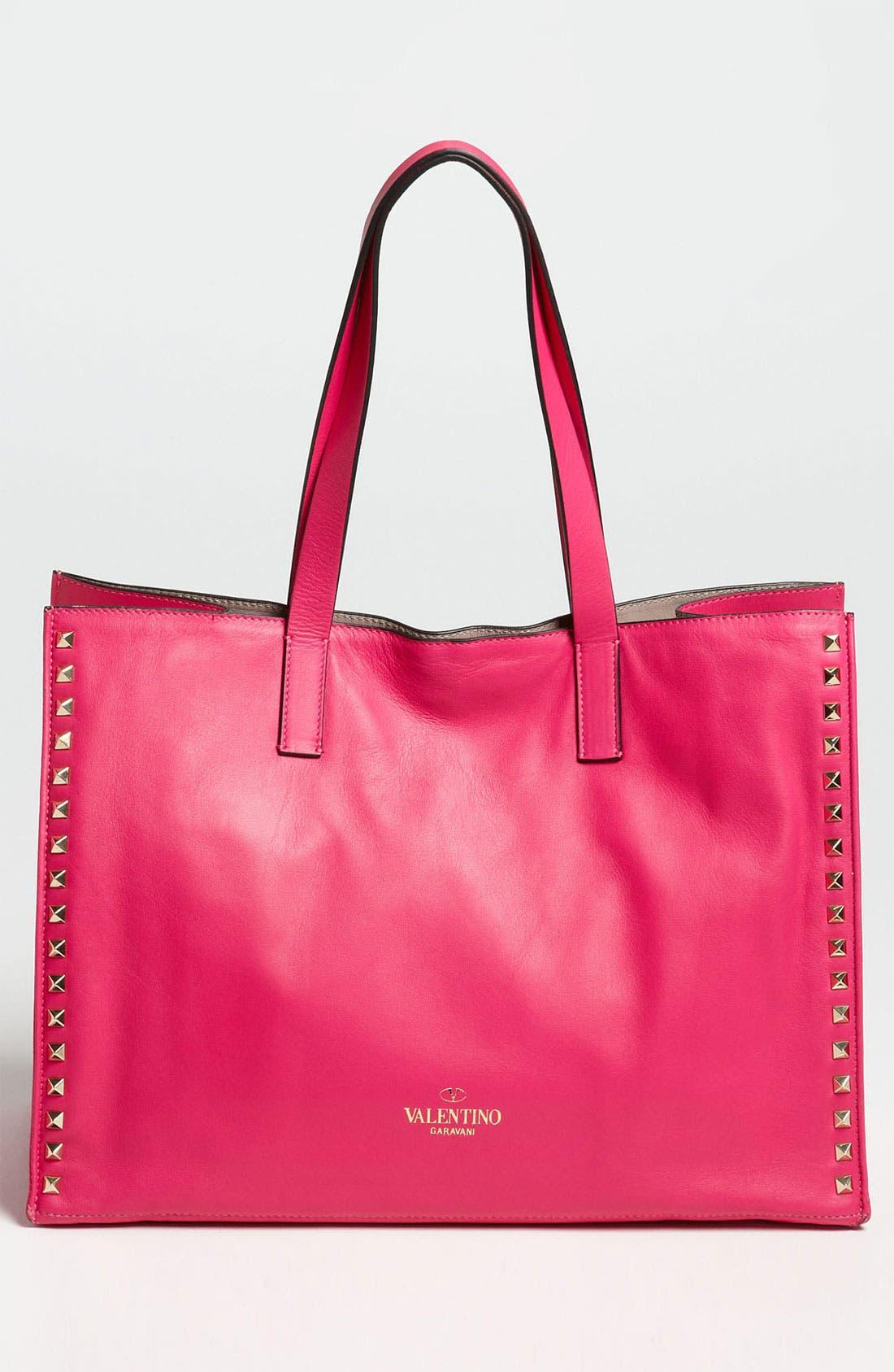 Alternate Image 4  - Valentino 'Medium Rockstud' Leather Tote