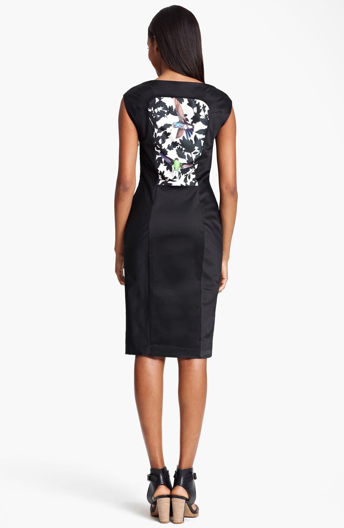 Alternate Image 2  - Thakoon Bird Print Sheath Dress