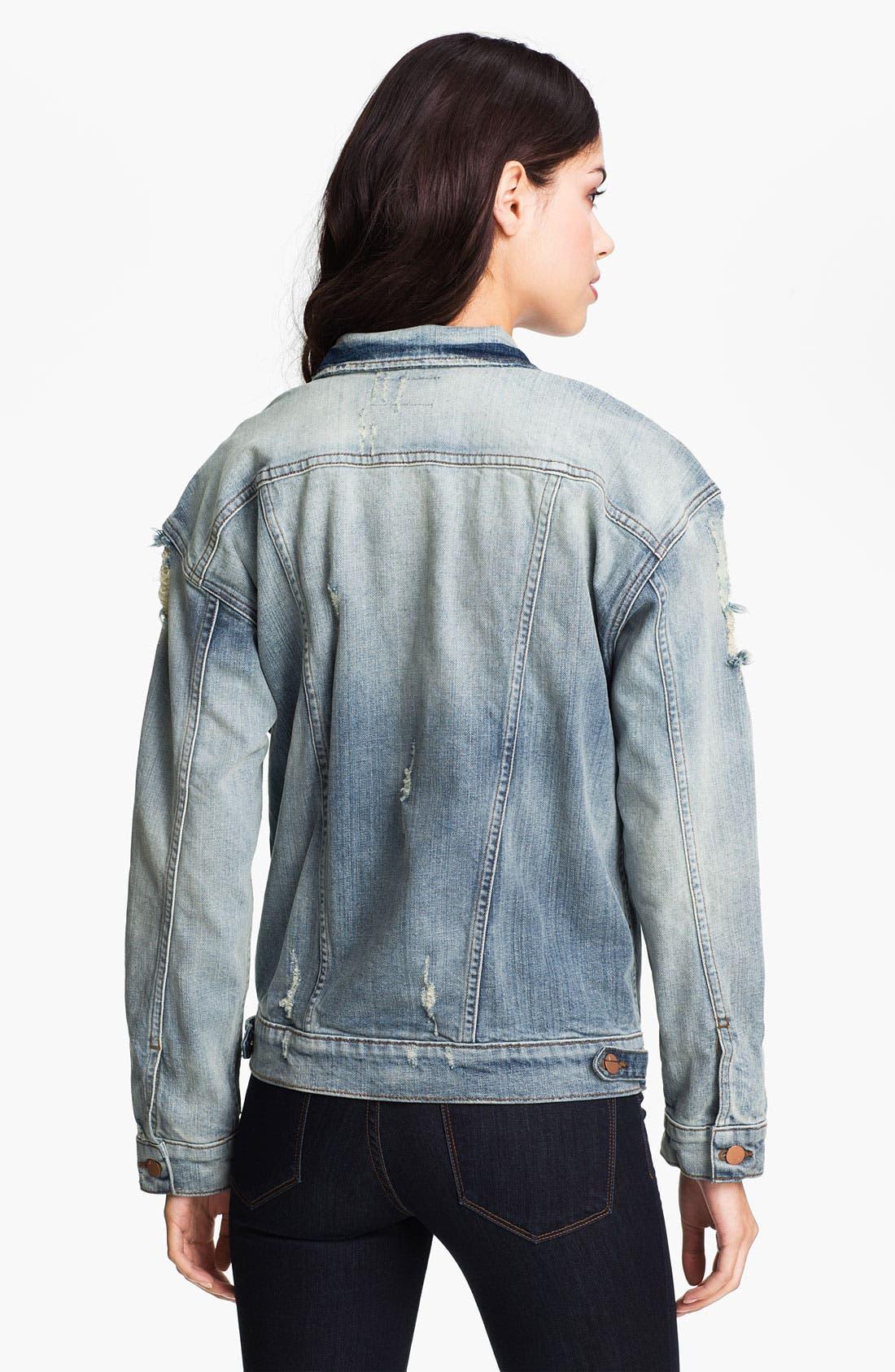 Alternate Image 2  - J Brand 'Boyfriend' Destroyed Denim Jacket (Wasted)
