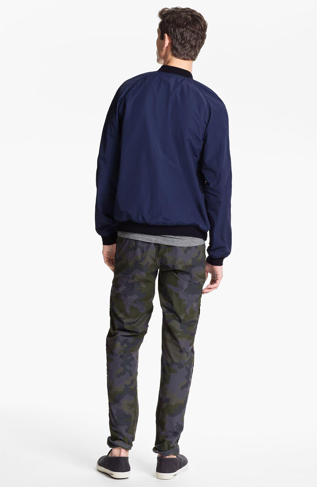 Alternate Image 5  - U Clothing 'Kai' Raglan Bomber Jacket