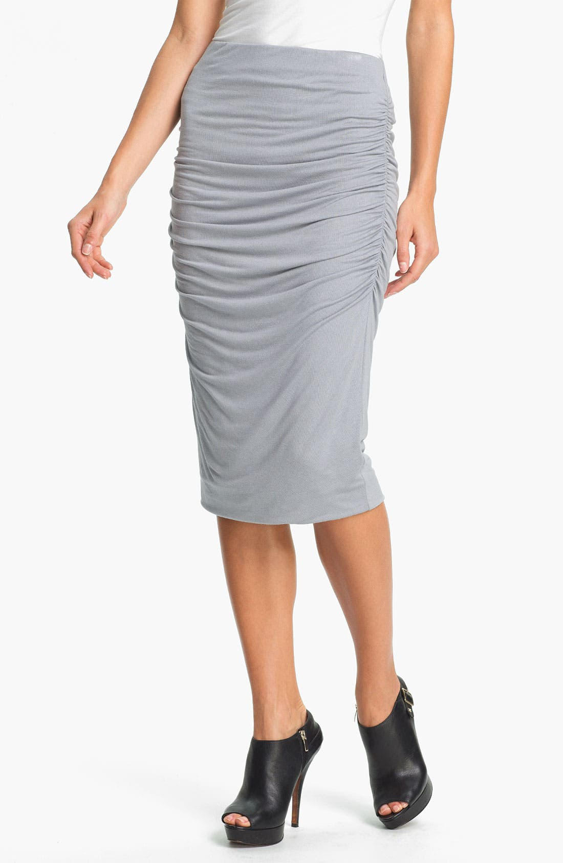 Alternate Image 1 Selected - Olivia Moon Ruched Midi Skirt (Online Only)