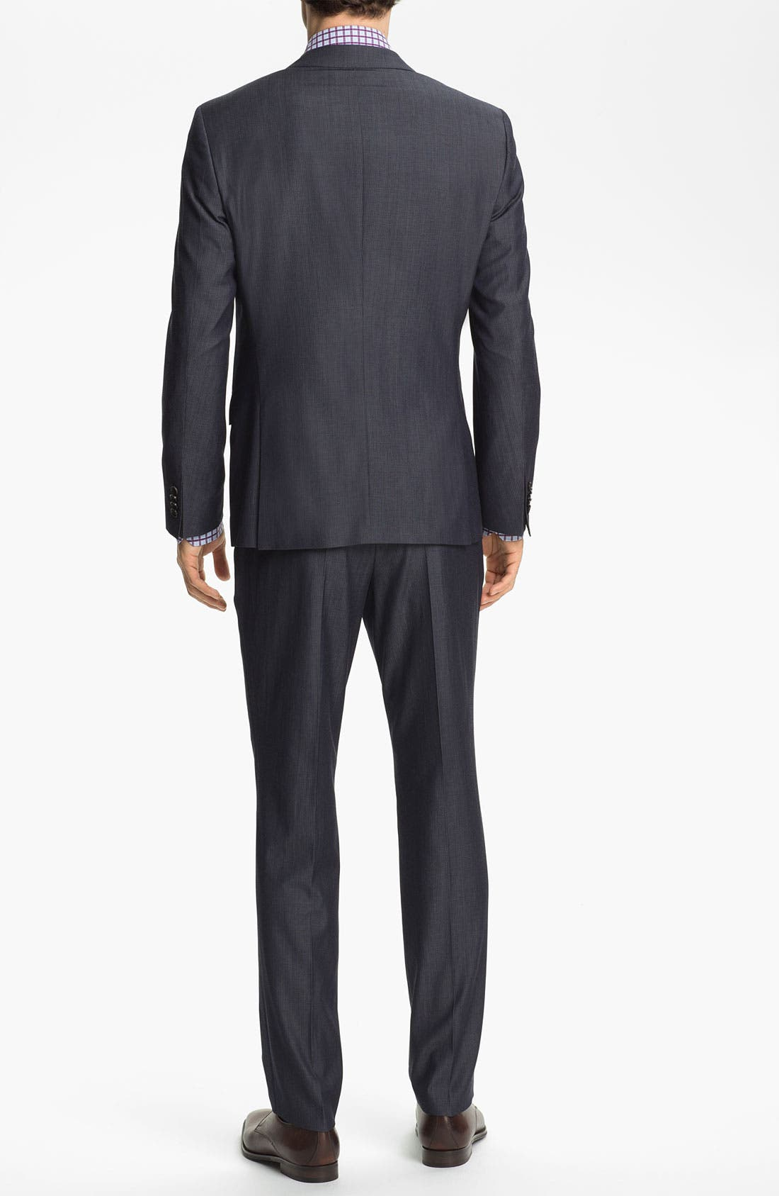 Alternate Image 3  - BOSS Black 'Huge/Genius' Trim Fit Stripe Suit