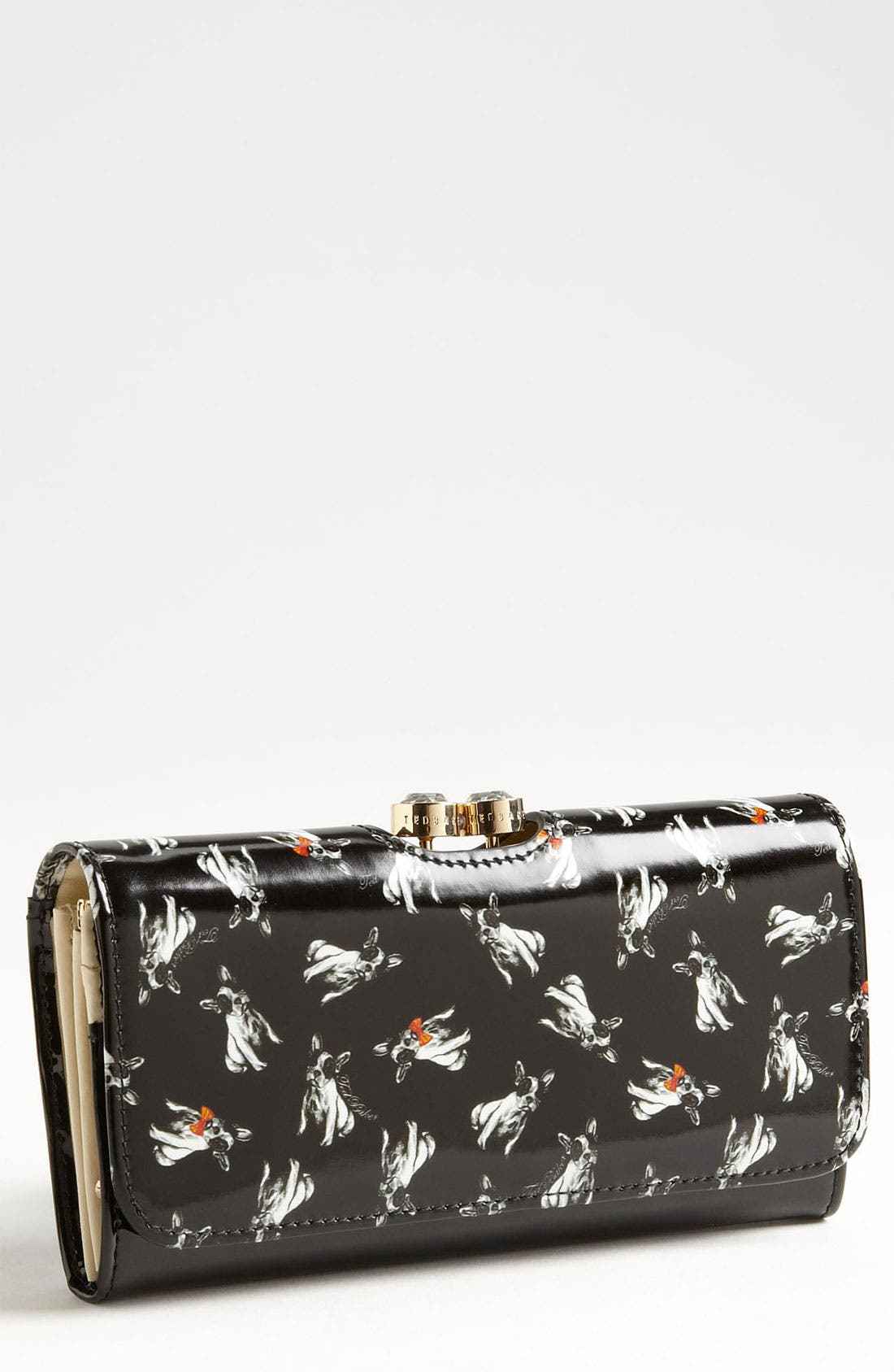 Main Image - Ted Baker London 'Cotton Dog Bobble' Matinee Wallet