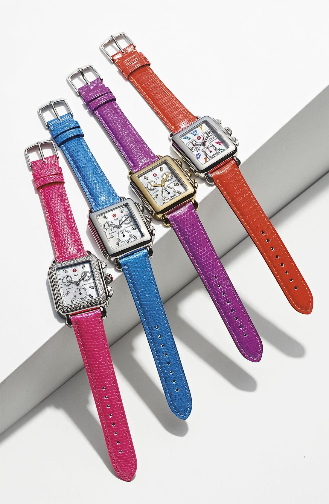 Alternate Image 3  - MICHELE 'Deco' Diamond Dial Two Tone Customizable Watch