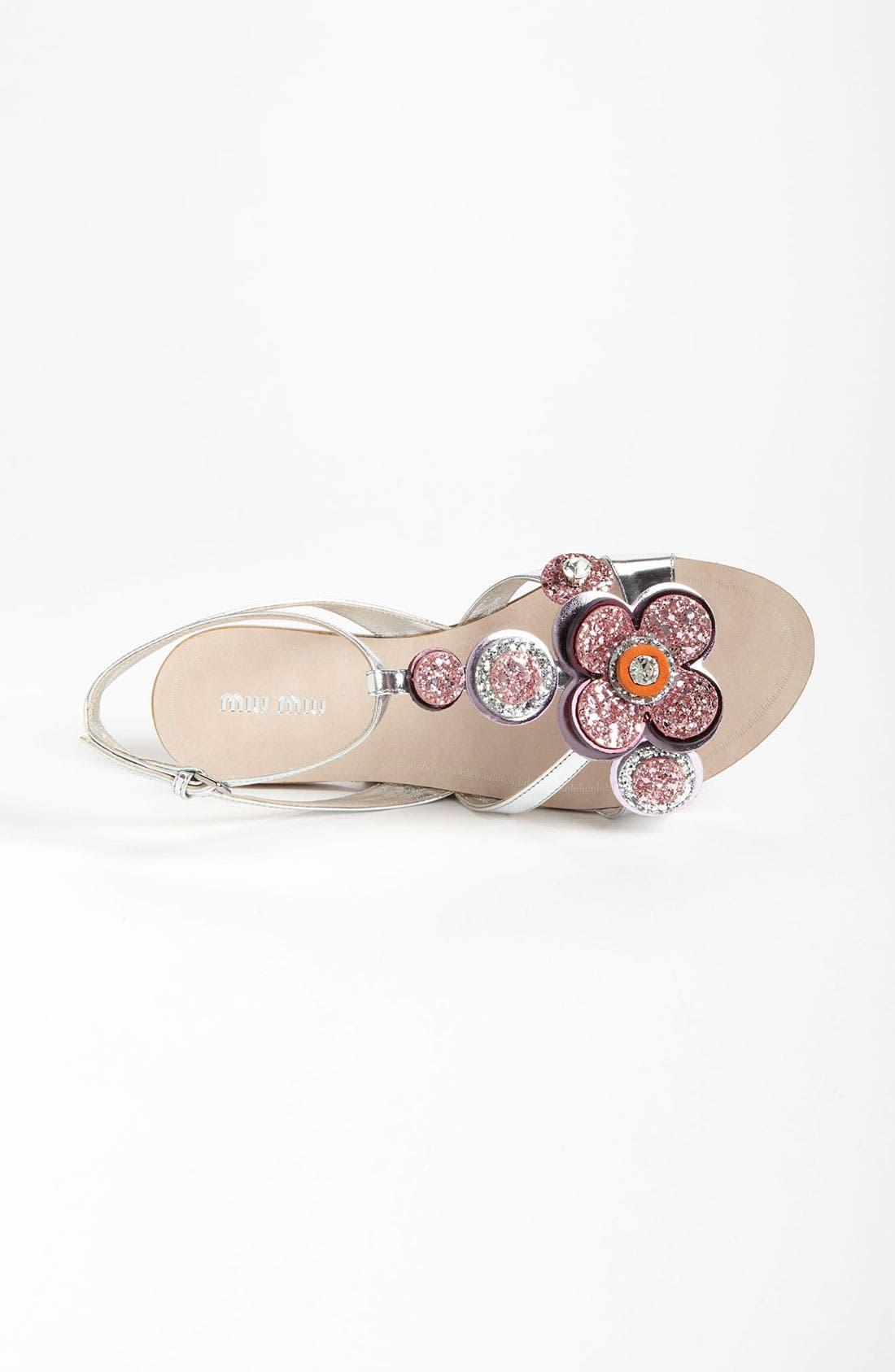 Alternate Image 3  - Miu Miu T-Strap Flower Sandal