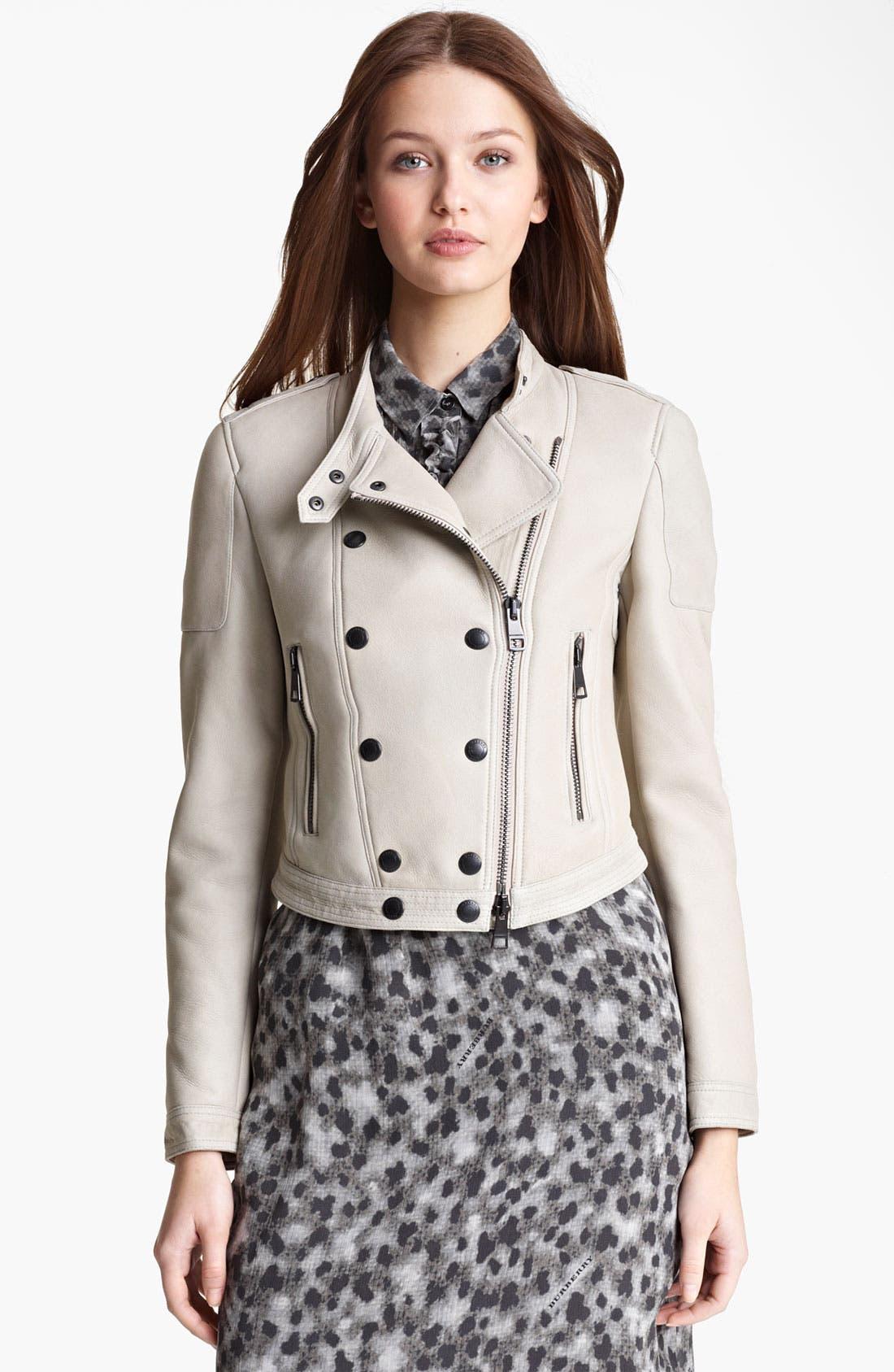 Main Image - Burberry Brit 'Alderley' Lambskin Shearling Jacket