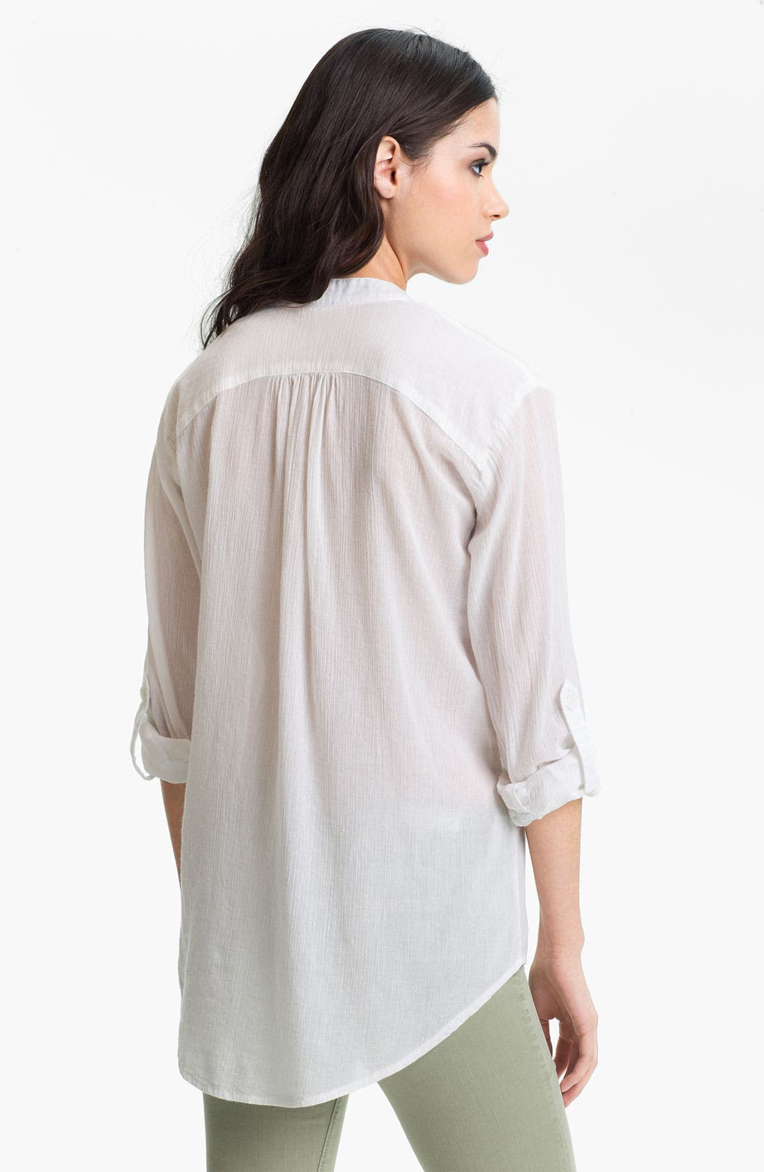 Alternate Image 2  - AG Jeans Crinkled Cotton Pocket Shirt