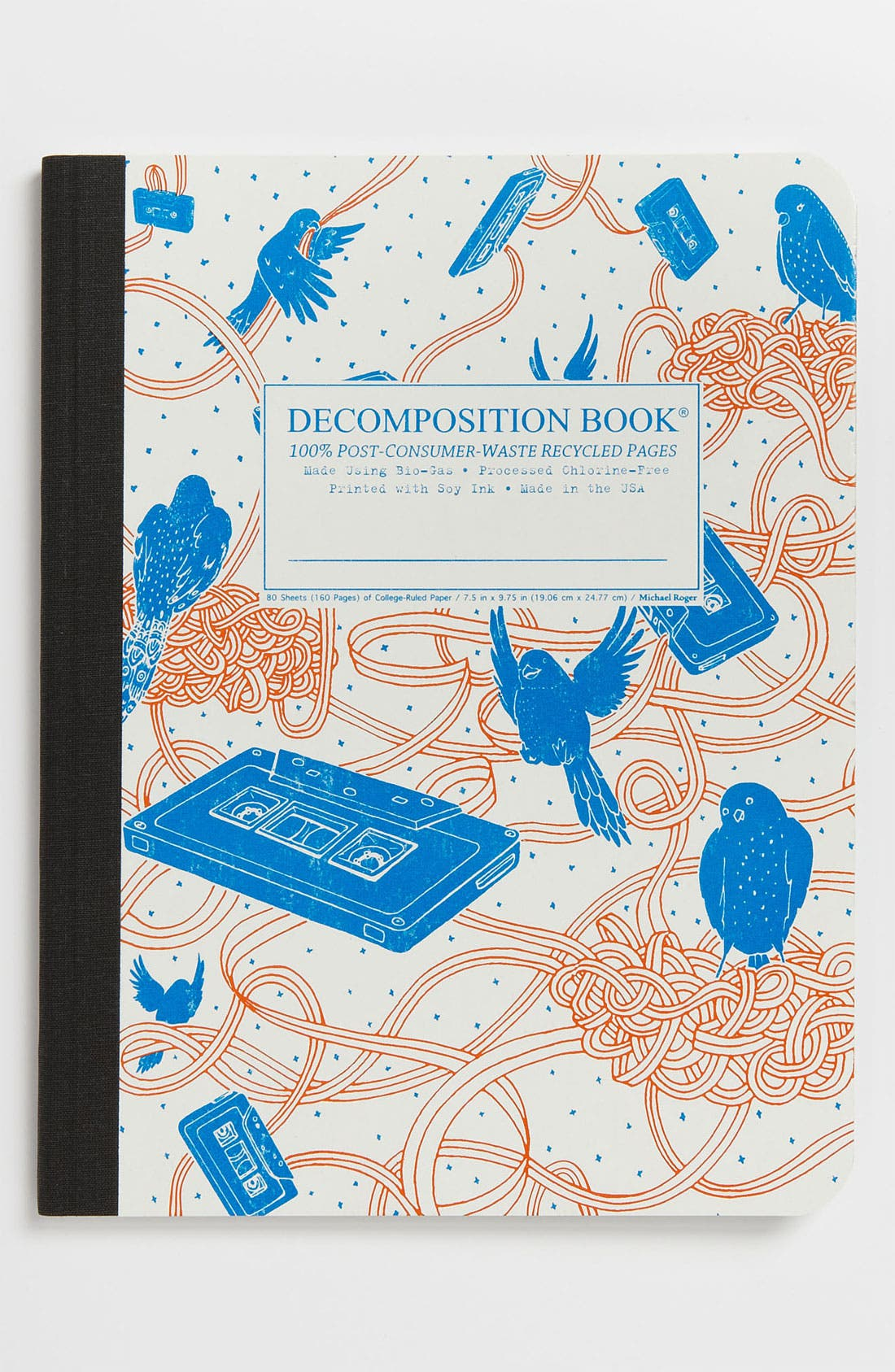 Alternate Image 1 Selected - 'Bird Song - Decomposition' Recycled Notebook