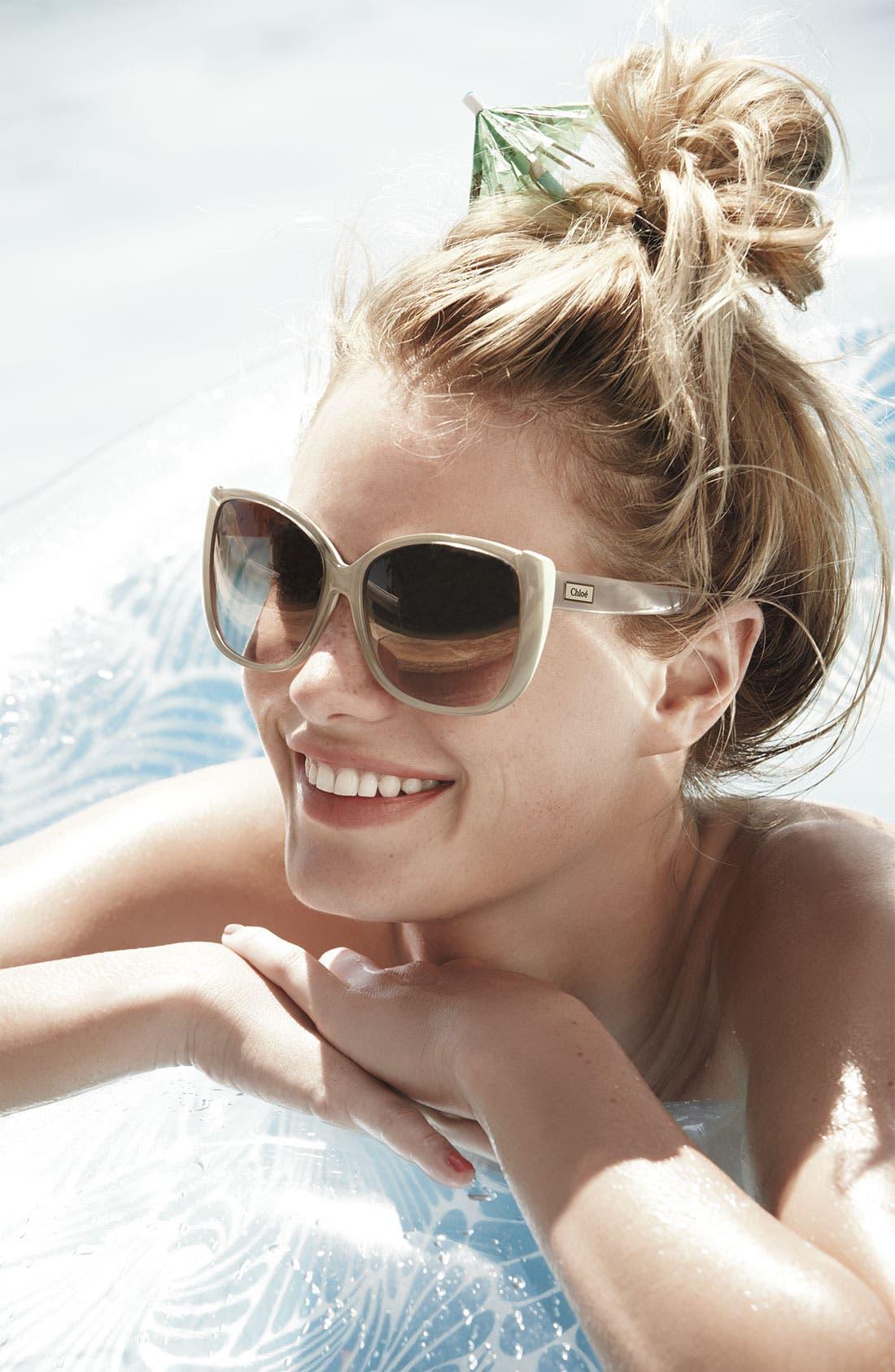 Alternate Image 2  - Chloé 60mm Oversized Sunglasses