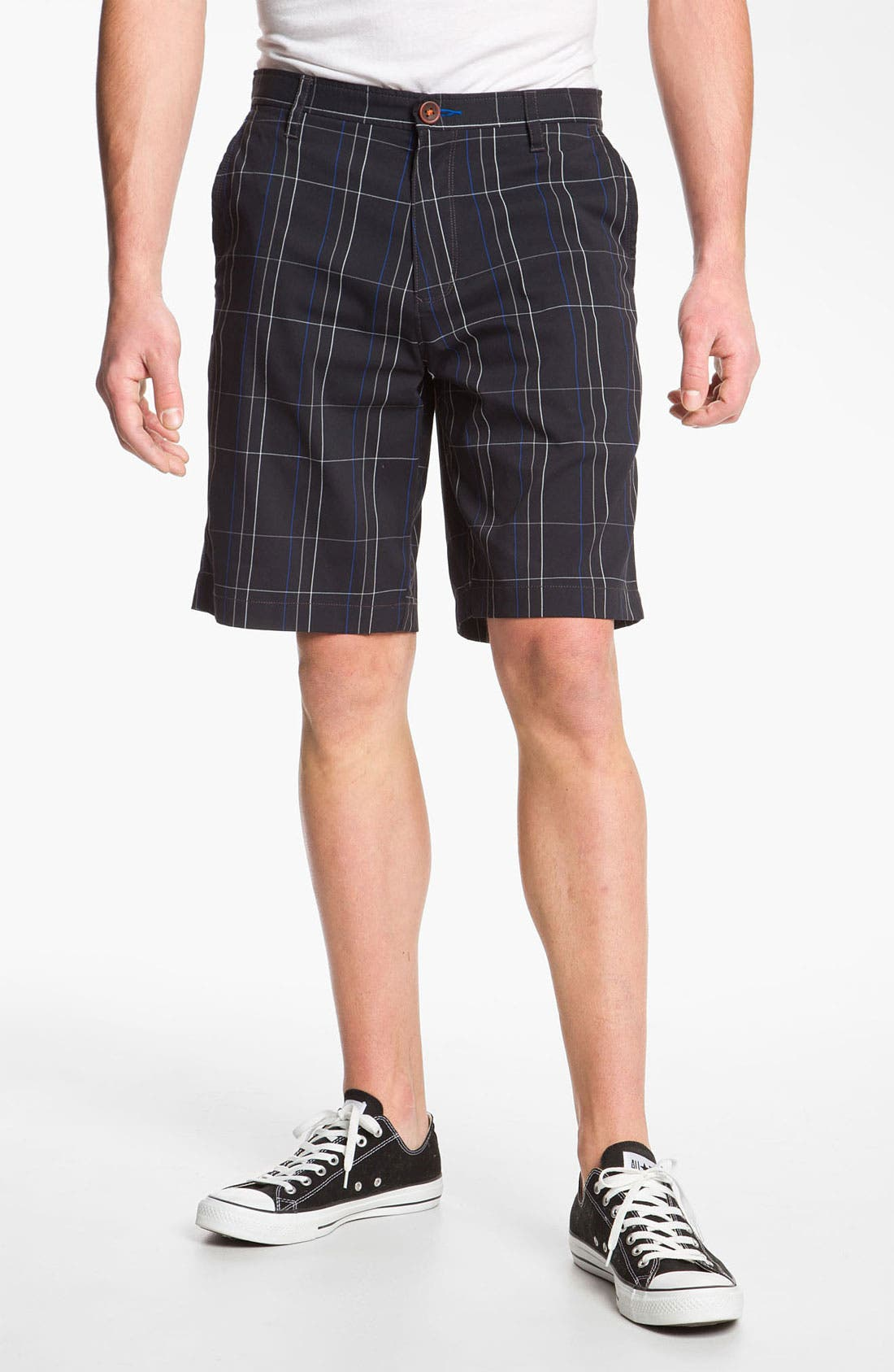 Main Image - Tommy Bahama 'Grid Life' Flat Front Shorts (Online Only)