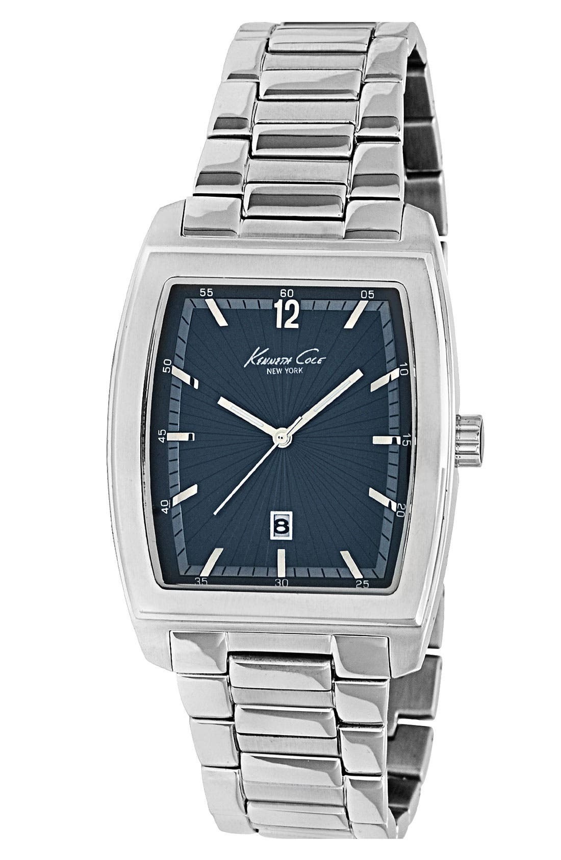 Alternate Image 1 Selected - Kenneth Cole New York Tonneau Bracelet Watch