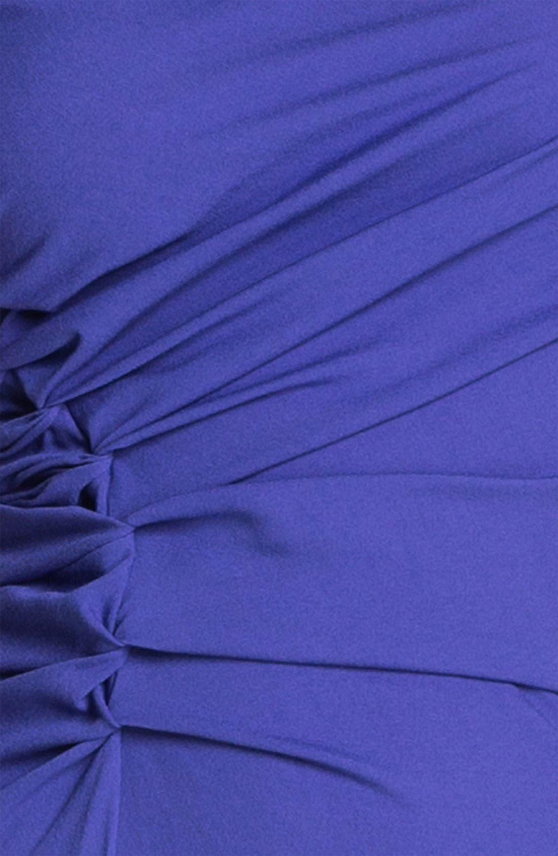Alternate Image 3  - Halston Heritage Reverse Pleat Crepe Sheath Dress