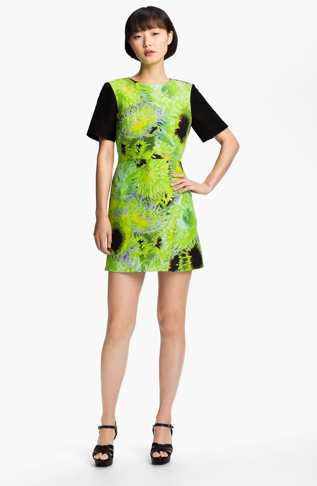 Alternate Image 1 Selected - Tibi 'Athena' Print Silk Blend Dress