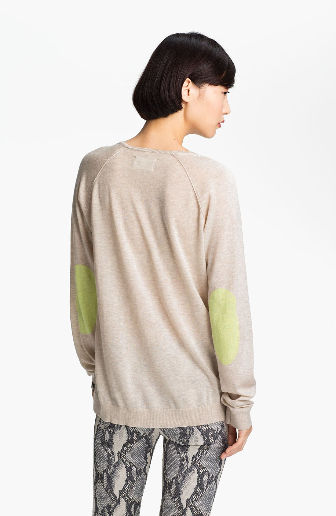 Alternate Image 2  - Zadig & Voltaire Contrast Elbow Patch Sweater