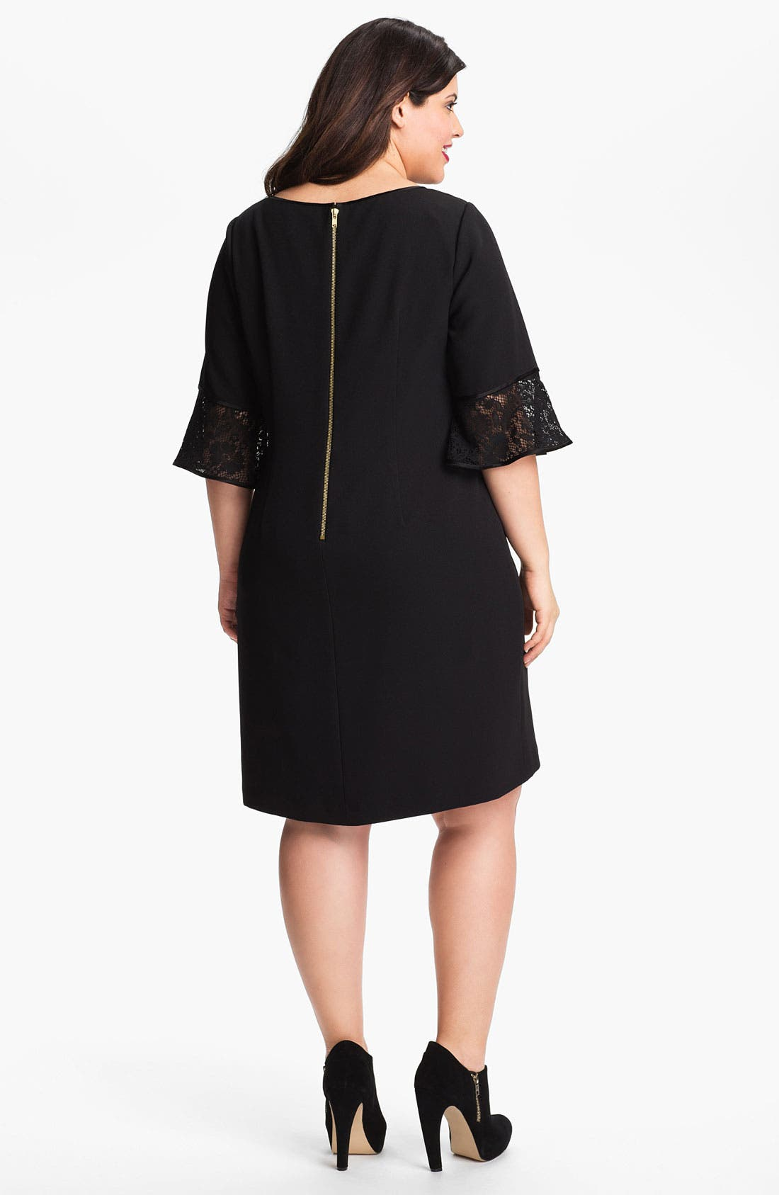 Alternate Image 2  - Adrianna Papell Crepe Shift Dress (Plus Size)