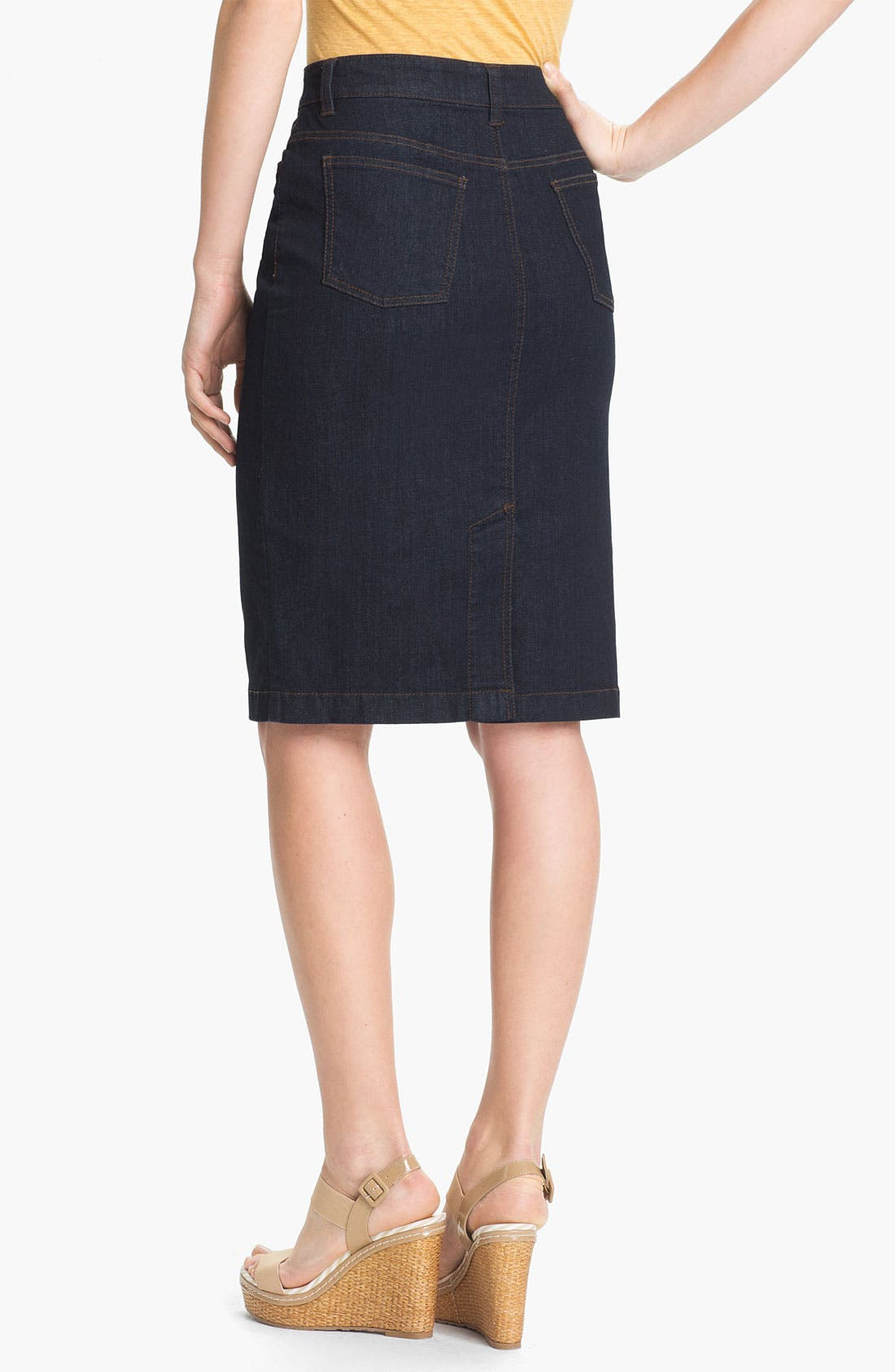 Alternate Image 2  - Eileen Fisher Stretch Denim Skirt