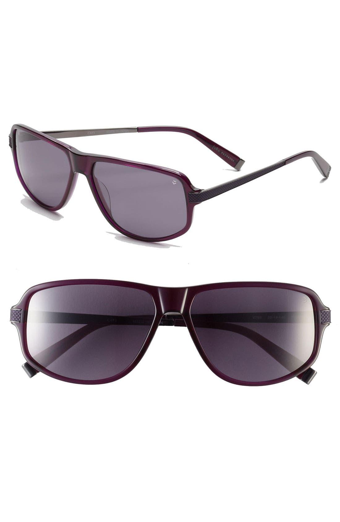 Alternate Image 1 Selected - John Varvatos Collection 'V780' 59mm Sunglasses