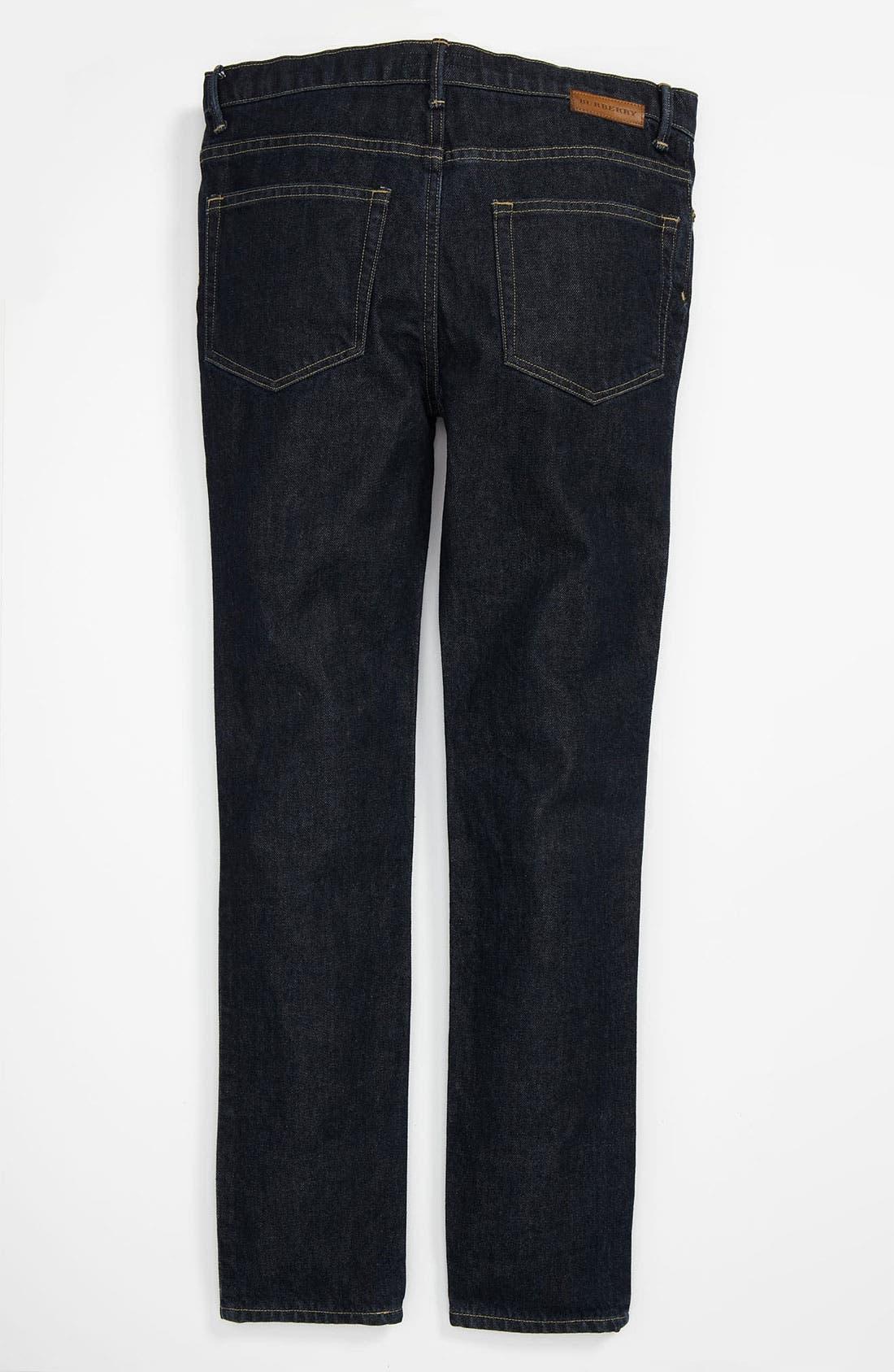 Alternate Image 1 Selected - Burberry Skinny Leg Jeans (Little Boys & Big Boys)
