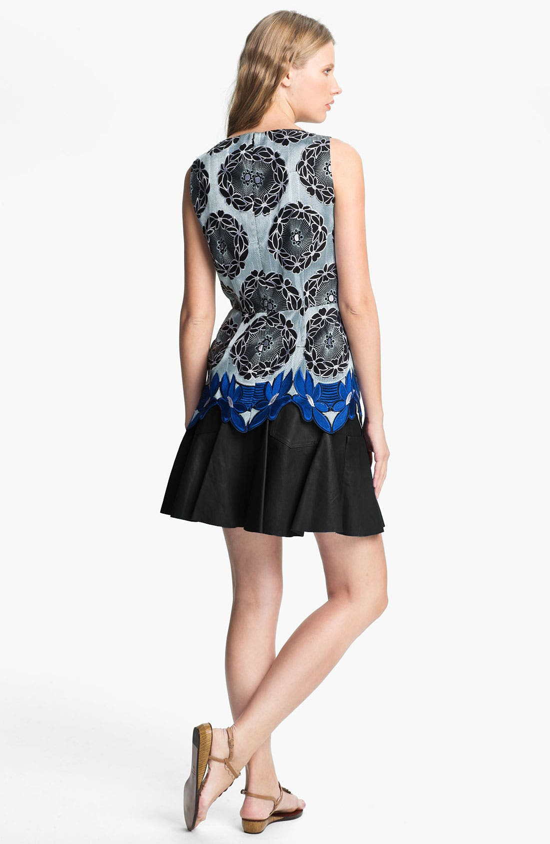 Alternate Image 2  - Thakoon Addition Embroidered Lace Hem Top