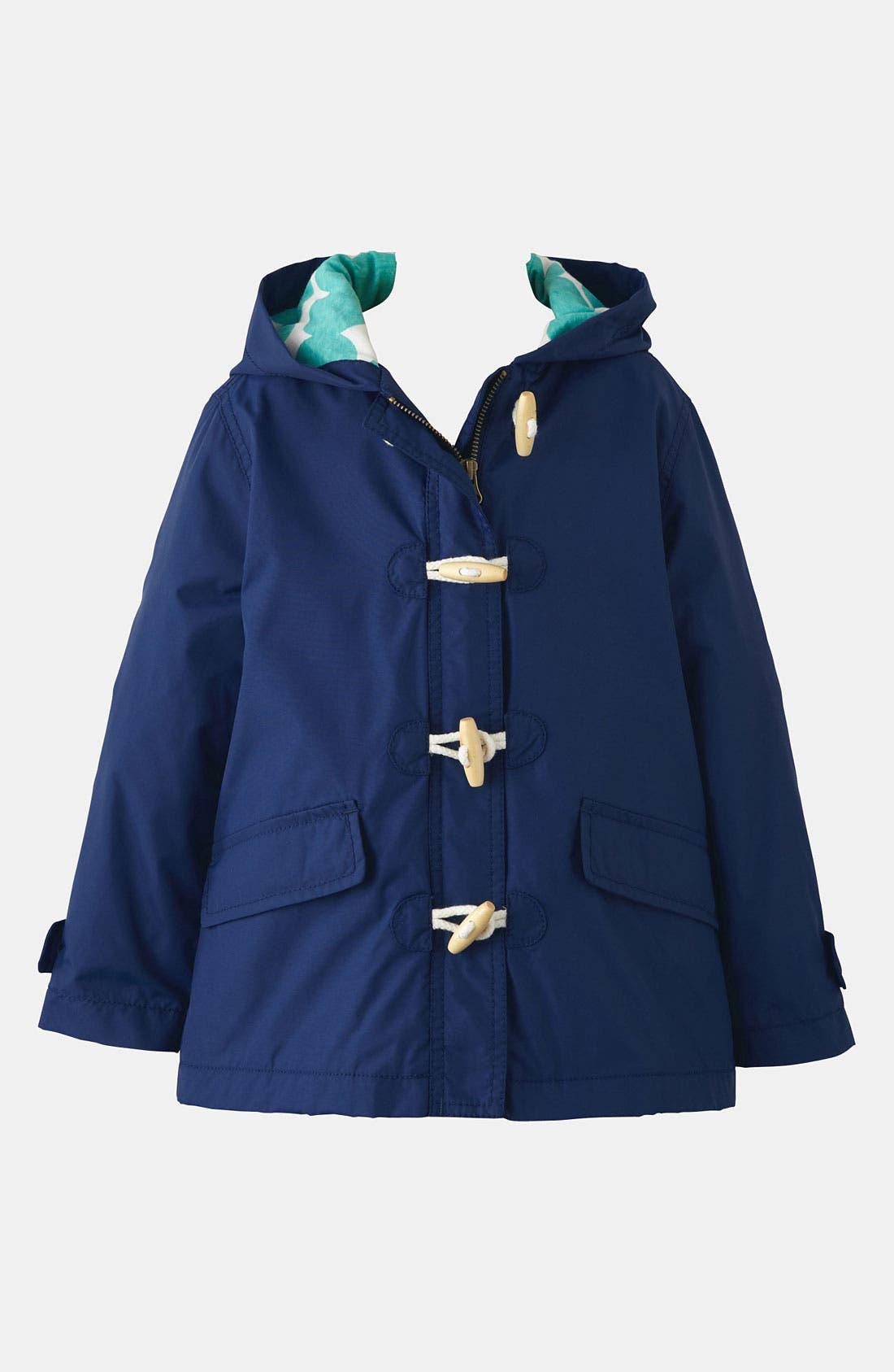 Alternate Image 1 Selected - Mini Boden 'Fisherman' Rain Jacket (Little Girls & Big Girls)