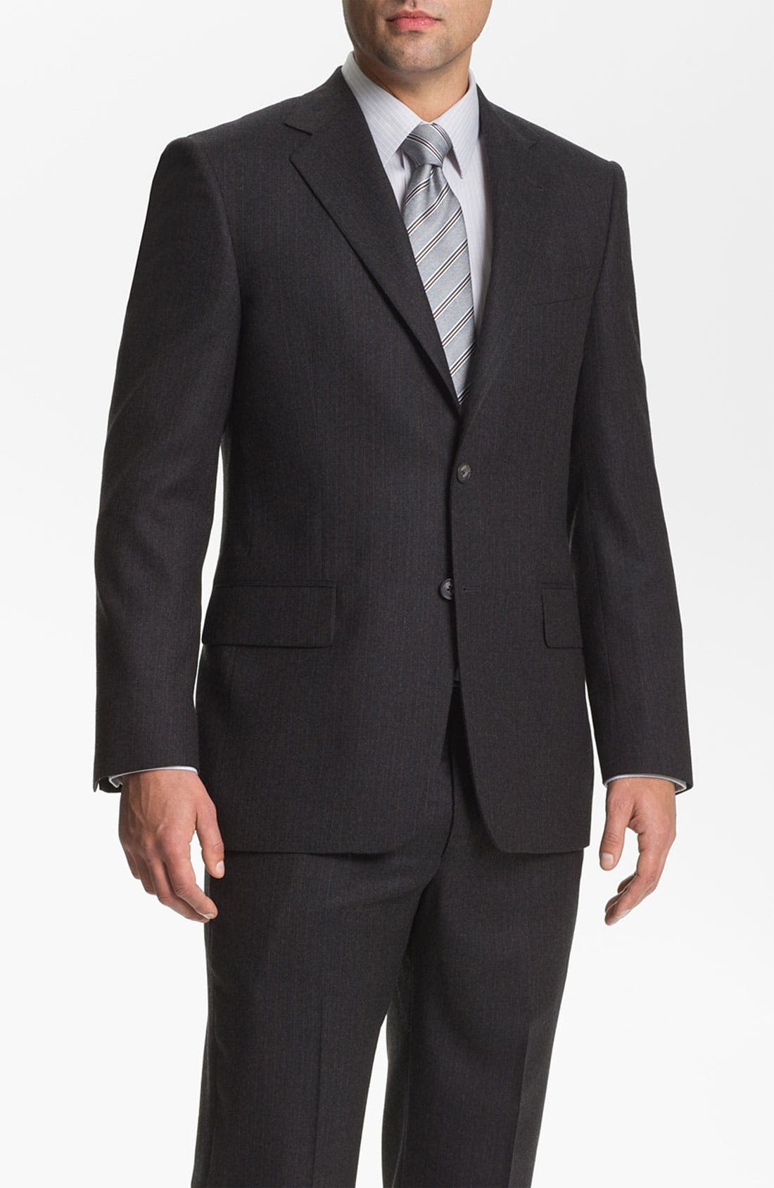 Alternate Image 1 Selected - Joseph Abboud 'Signature Silver' Stripe Suit