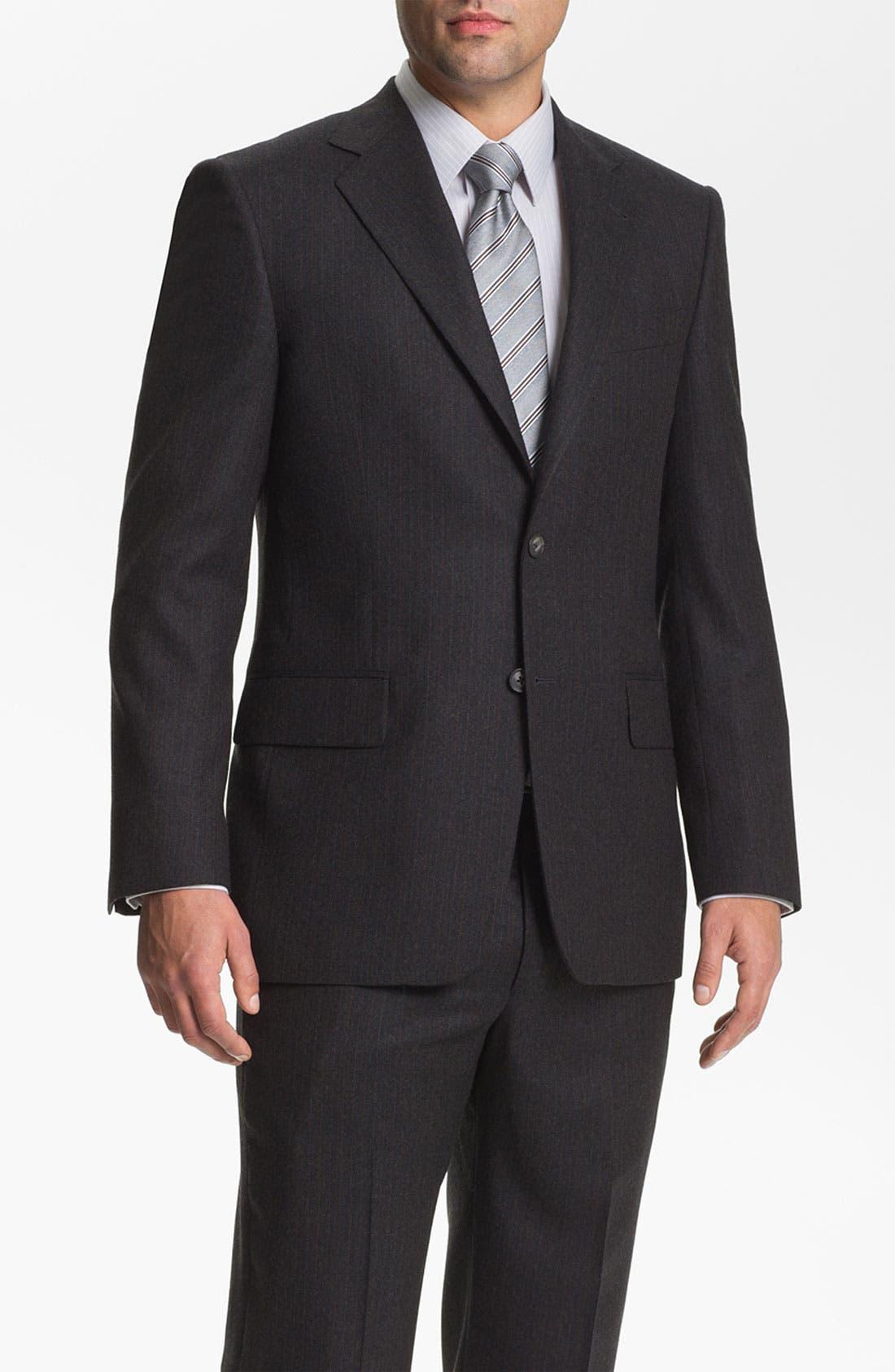 Main Image - Joseph Abboud 'Signature Silver' Stripe Suit
