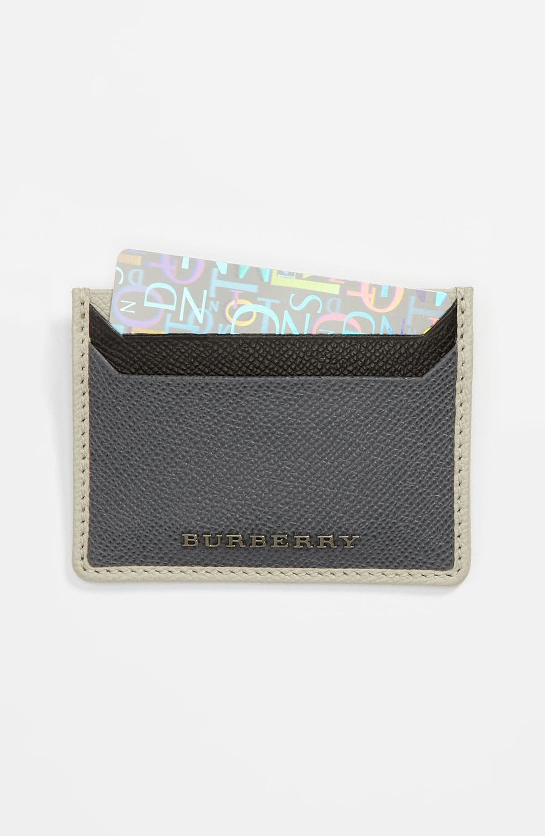 Alternate Image 1 Selected - Burberry Leather Card Case