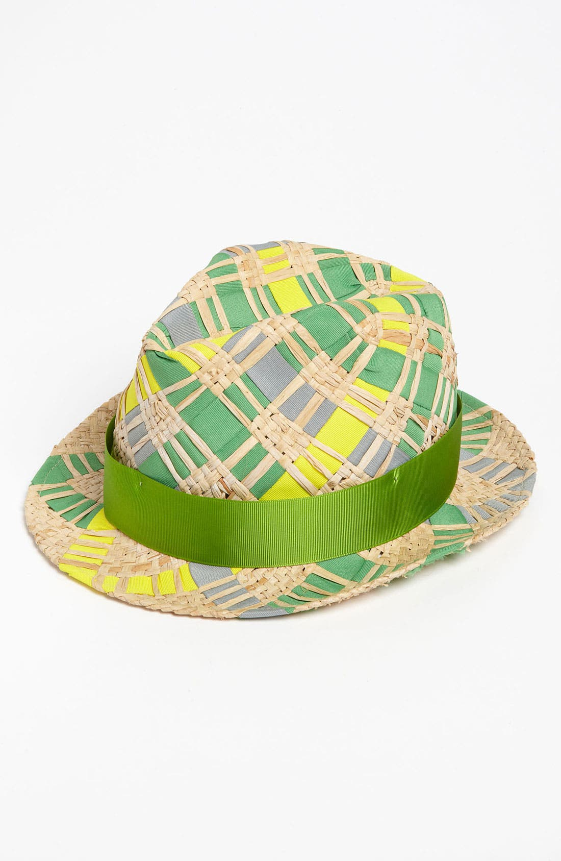 Alternate Image 1 Selected - Jonathan Adler Ribbon & Straw Handwoven Fedora
