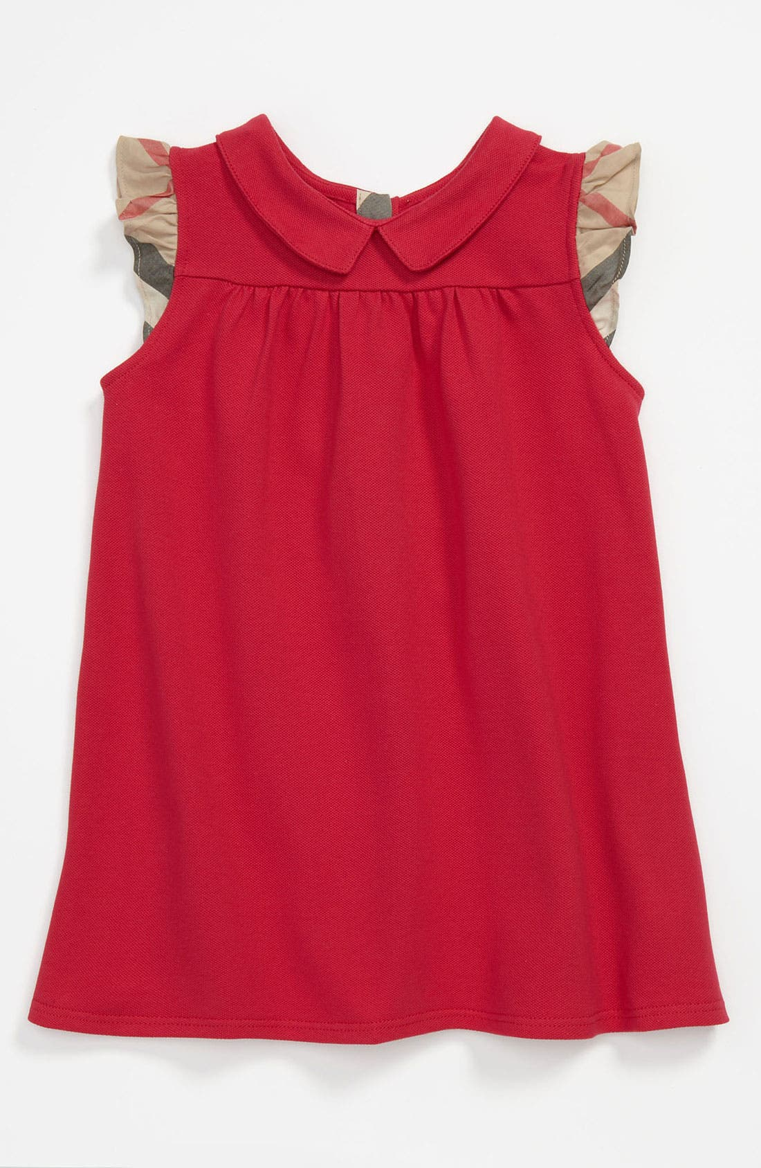 Alternate Image 1 Selected - Burberry 'Perez' Piqué Polo Dress (Baby)