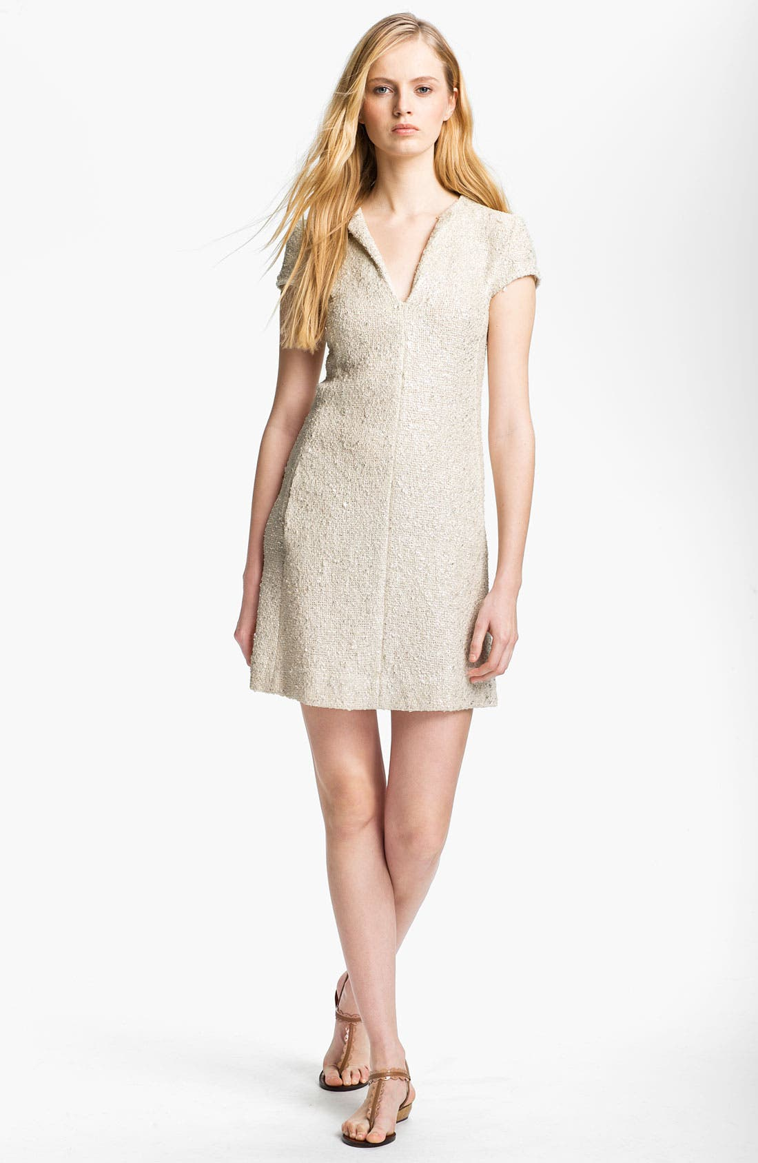 Alternate Image 1 Selected - L'AGENCE Bouclé Shift Dress