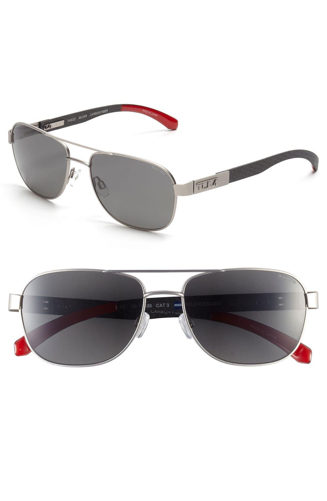 Main Image - Tumi 'Vasco' 56mm Polarized Sunglasses