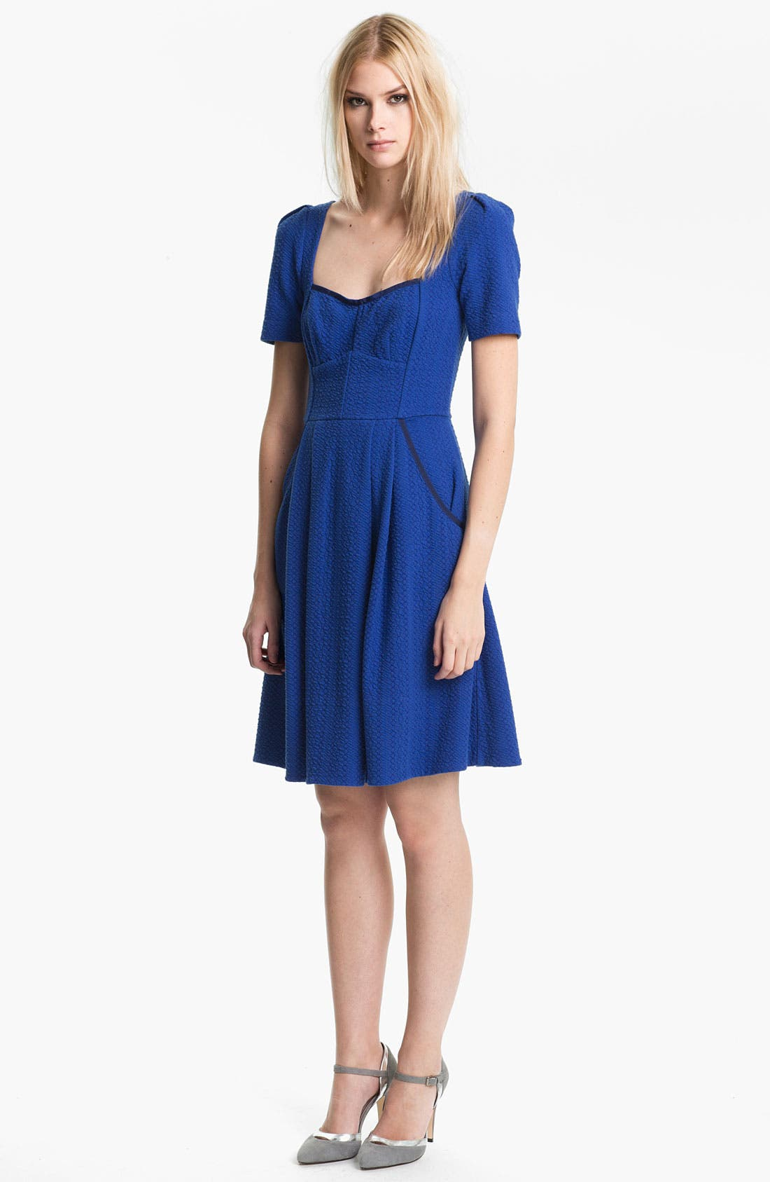 Alternate Image 1 Selected - MARC BY MARC JACOBS 'Gertie' Pleated Fit & Flare Dress