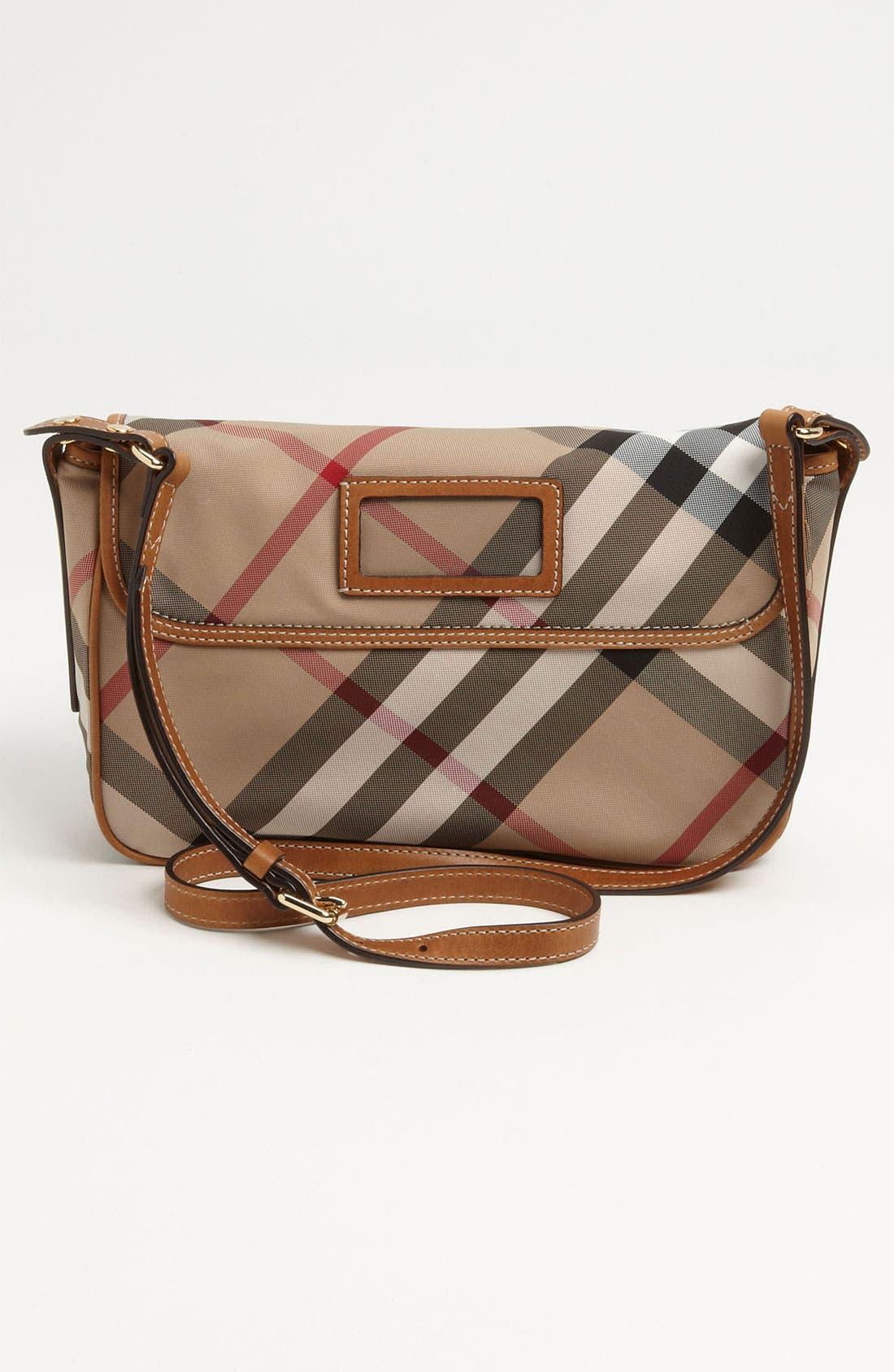 Alternate Image 4  - Burberry 'Liv' Check Print Crossbody Bag (Girls)