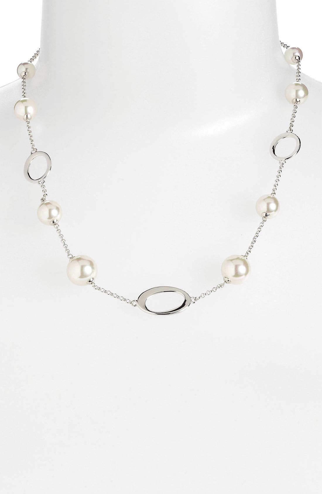 Main Image - Majorica Pearl Station Necklace