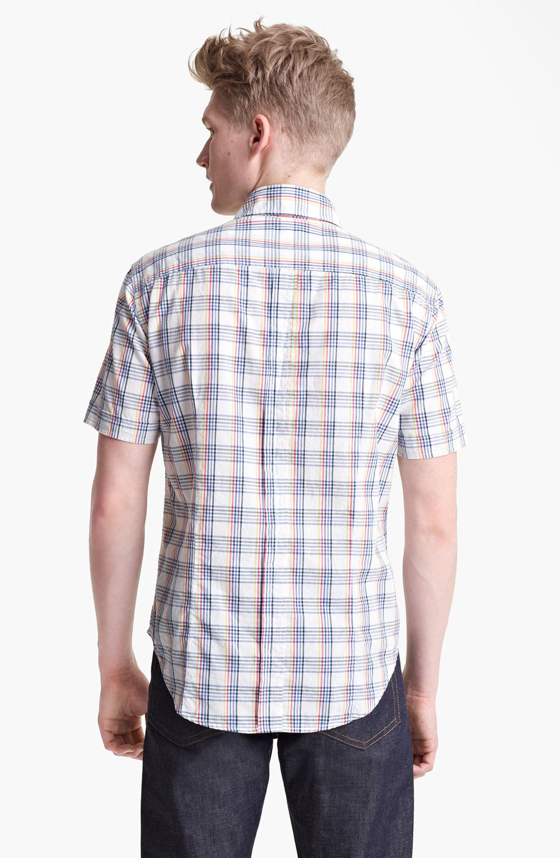 Alternate Image 2  - Band of Outsiders Multi Check Woven Shirt